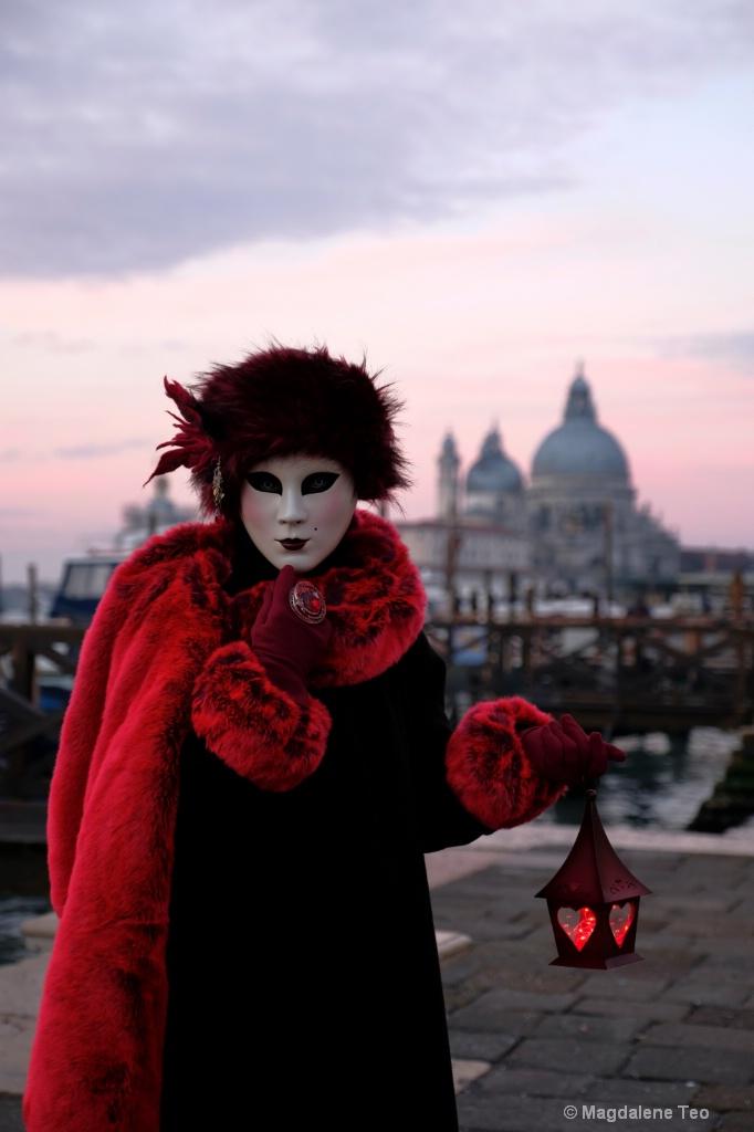 Venice Carnival: Color Series - Sunrise Red