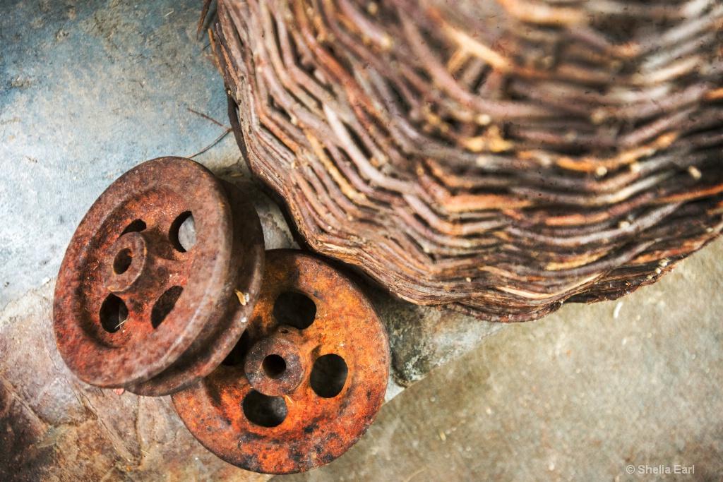 Bee Hive Basket Still Life #2