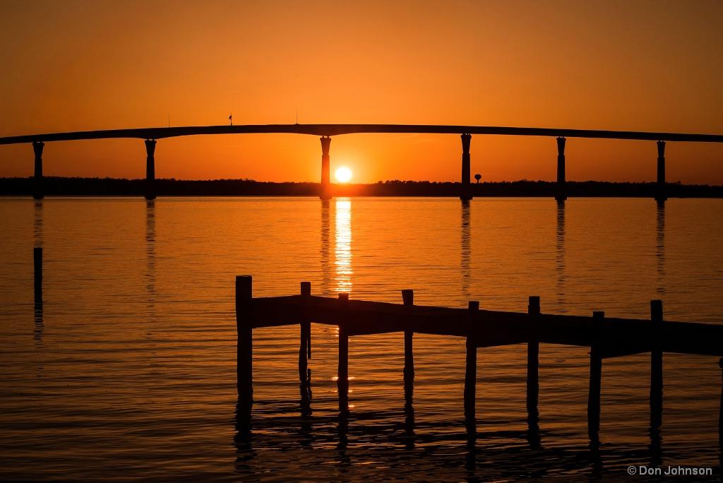 Sunset-Dock & Bridge 4-21-18 537