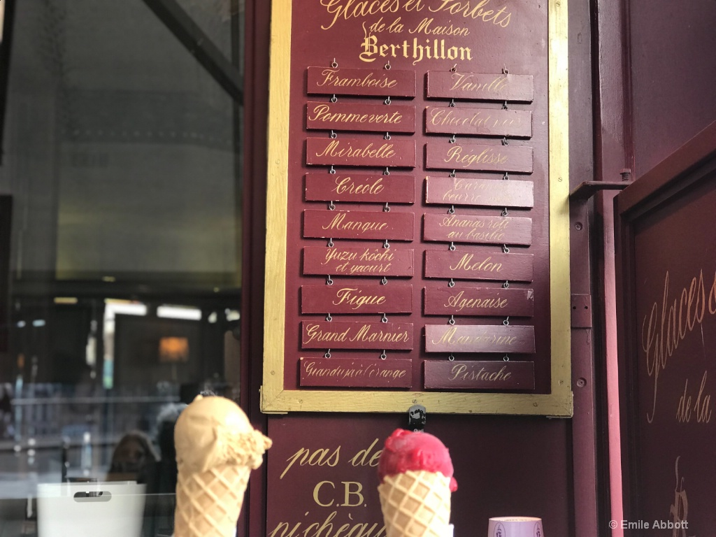 Famous Berthillon ice cream
