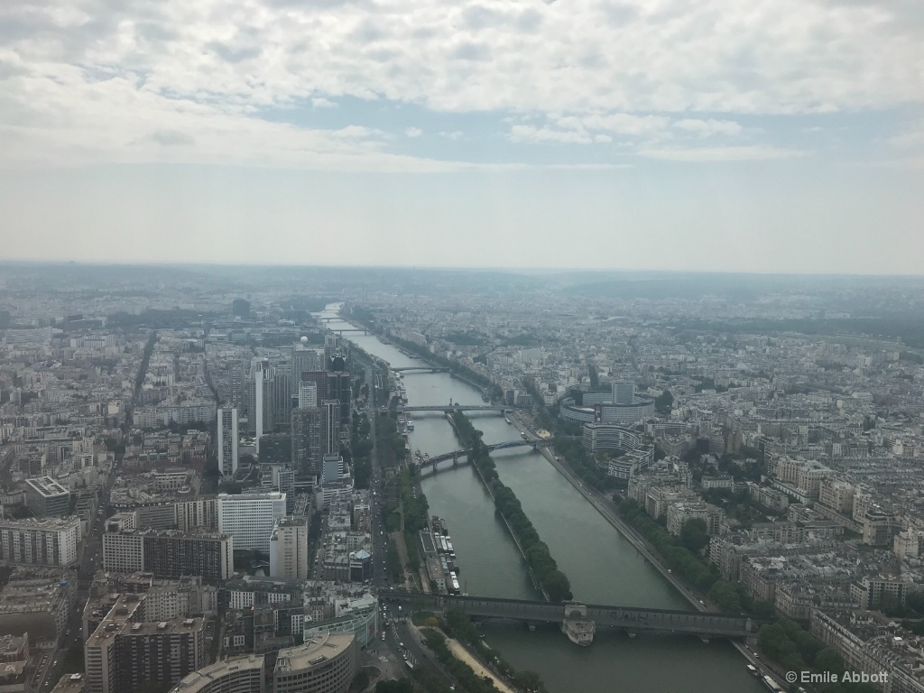 View from Eiffel Tower 58th floor