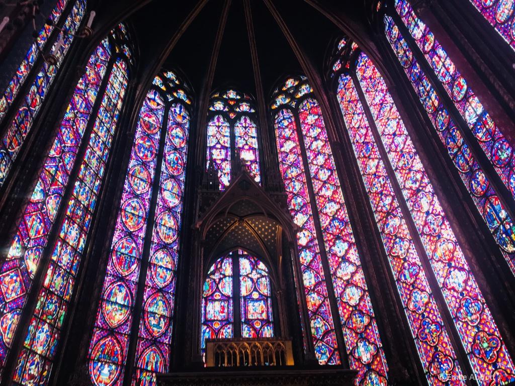 Stain glass in Sainte-Chapelle In Paris