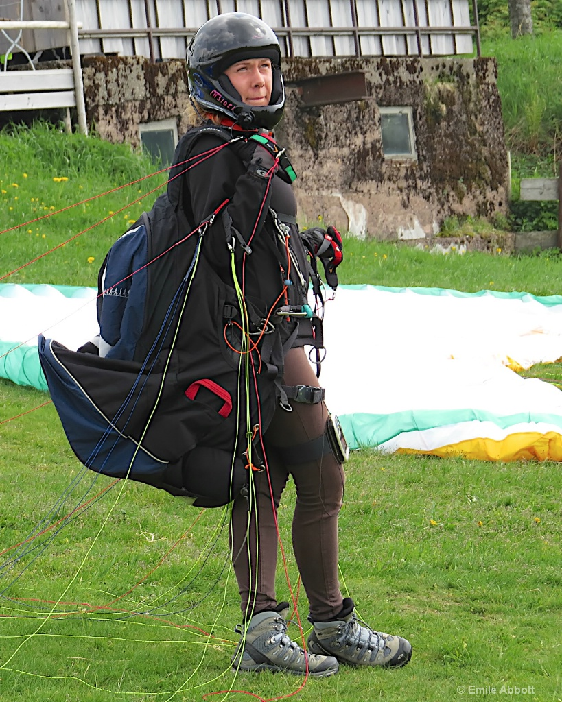 Lady in Parasailing gear