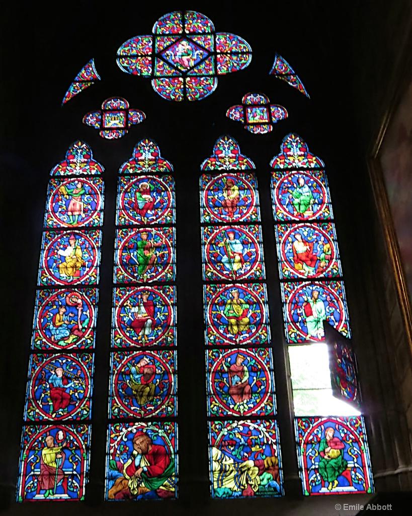 Notre Dame Open Window.