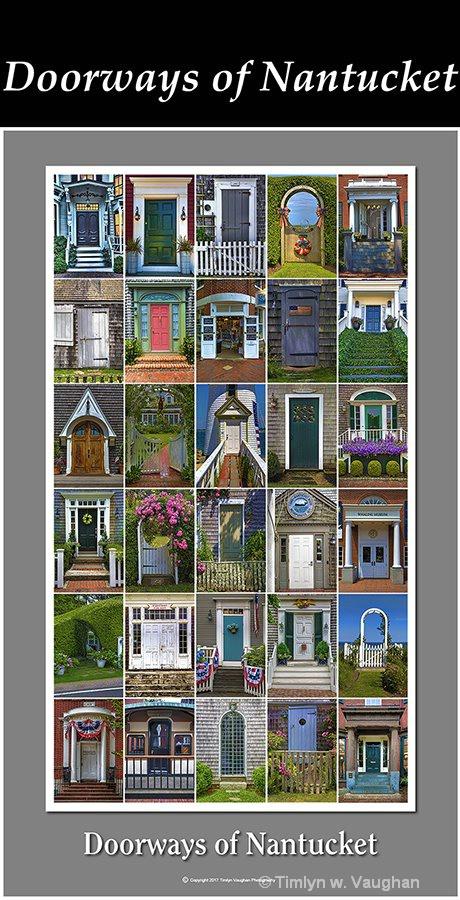 """Fine Art Print """"Doorways of Nantucket"""""""