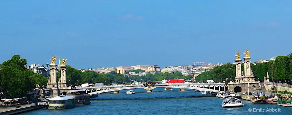 Bridge over river Seine Paris