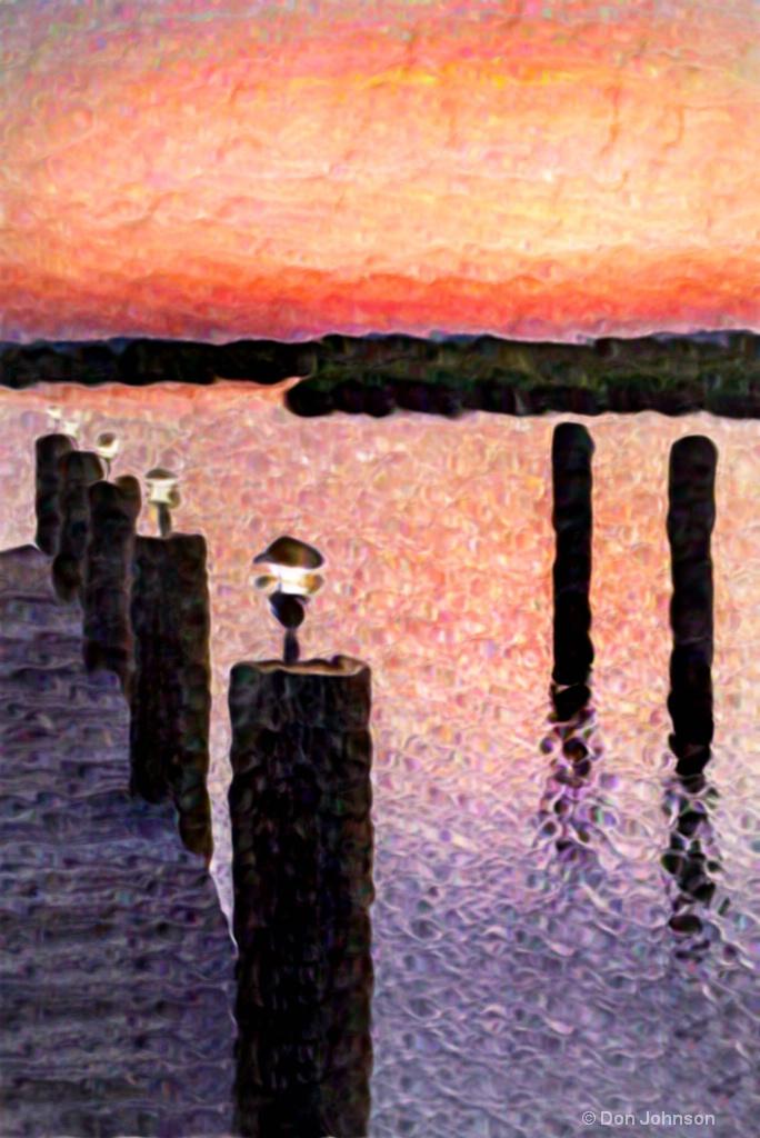 Artistic II Sunrise at the Pier 12-0 F LR 7-22-18