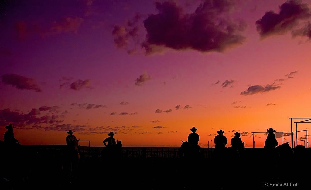 Cowboy Silhouettes at 06 ranch