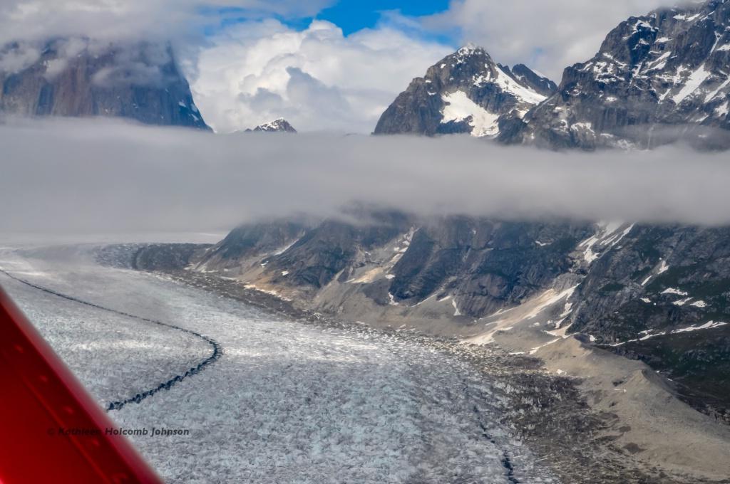 Flying over a Glacier!