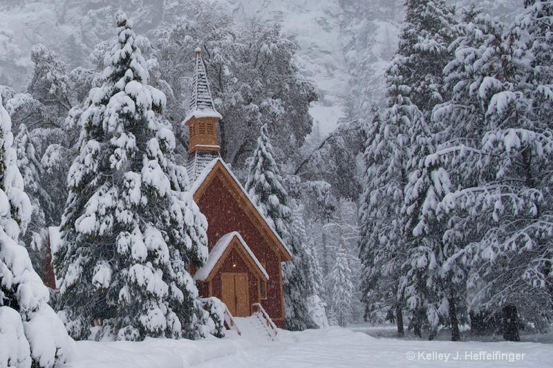 Chapel in Winter Storm