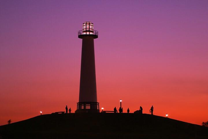 lighthouse @ rainbow harbor,long beach ca.