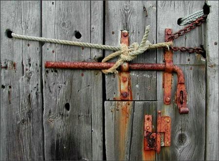 Boat-shed door