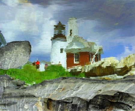 Reflecting at Pemaquid Lighthouse ME