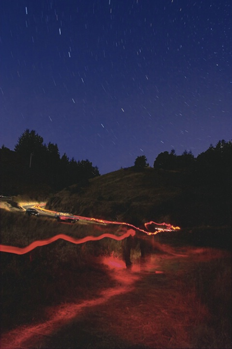 The Fiery Path of Night (version 2)