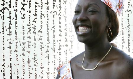 The joyful girl
