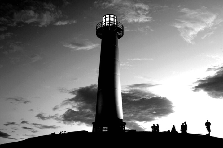 *lightouse in b&w*