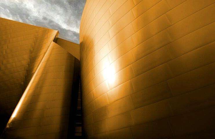 * disney concert hall-in bronze*