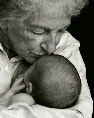 Grandmother with her new Grandbaby