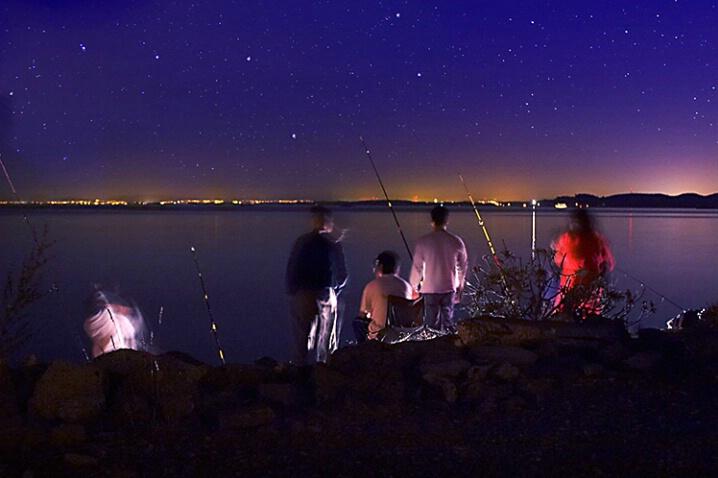 Tran Family Fishing Under the Stars