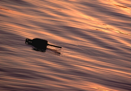 Lobster Buoy at sunset