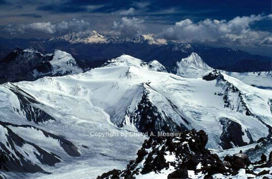 View from 19,300' on Aconcagua, Andes Mtns. - ID: 355808 © Cheryl  A. Moseley