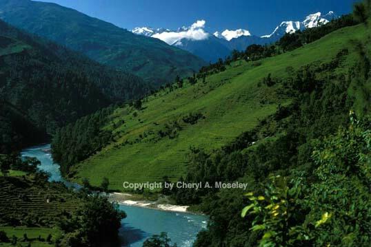 Gauri Shankar mtn w/glacial river - ID: 355831 © Cheryl  A. Moseley