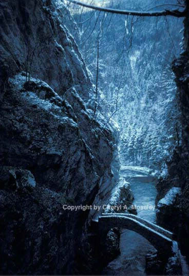 """Winter bridge in Camelot"" - ID: 360168 © Cheryl  A. Moseley"