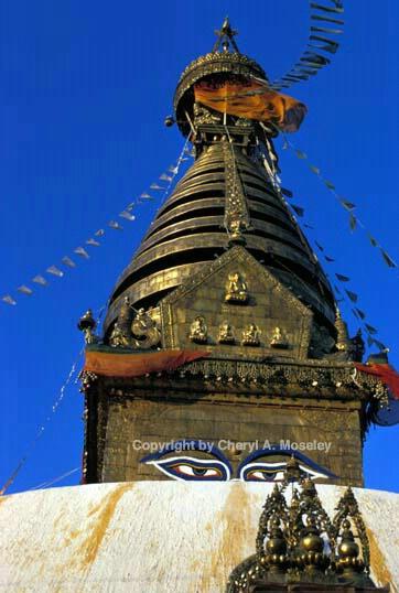 Temple Eyes, Nepal - ID: 360256 © Cheryl  A. Moseley