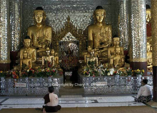Burma Golden Buddha.jpg - ID: 362399 © Cheryl  A. Moseley