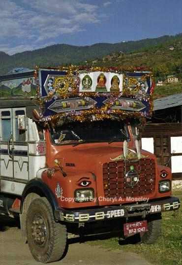 Common truck in Bhutan, 4-23 - ID: 362423 © Cheryl  A. Moseley