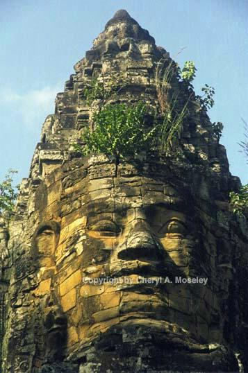 Bayon Temple, close, Ankor, Cambodia, 30-17 - ID: 362429 © Cheryl  A. Moseley