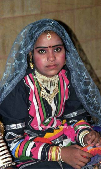 Young Rajasthani Woman withTika, 19-9 - ID: 362519 © Cheryl  A. Moseley