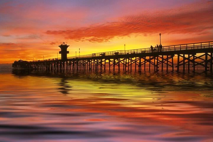 *sunset at seal beach pier*