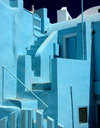 Blue in Santorini