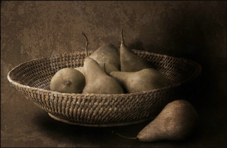 Basket and Pears