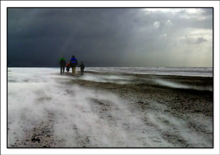 Sandblasting on Beach