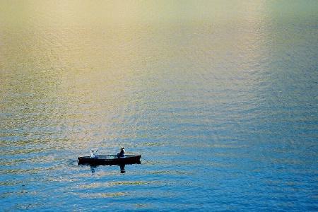 Canoe on Lake Cristobal