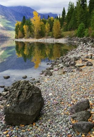 A Fall trail of rocks