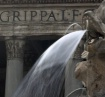 Pantheon fountain...