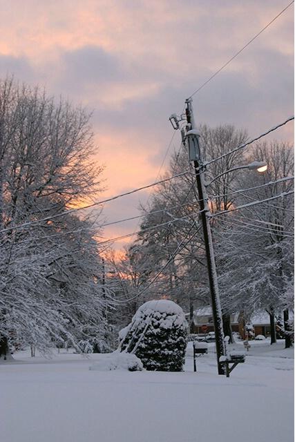 Winter Storm Sunset