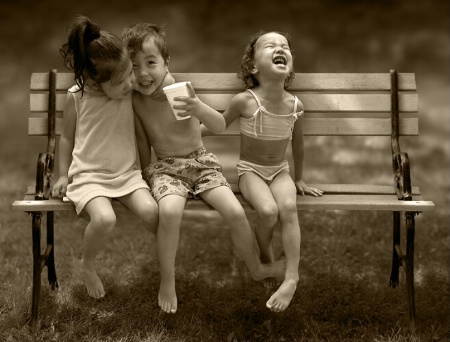 Photography Contest Grand Prize Winner - February 2005: Innocent Laughter - Kazakh Cuties 2003