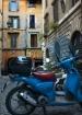 Blue Vespa in Cen...
