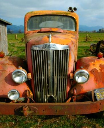 Old Truck in Tillamook, Or
