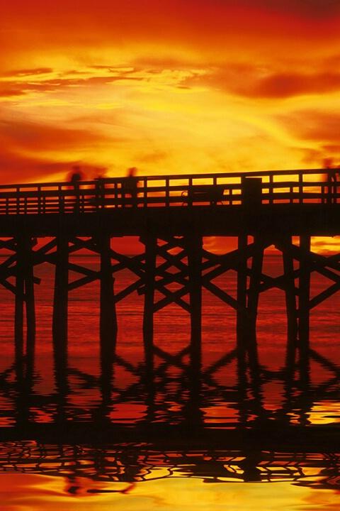 *seal beach pier at sunset 2*