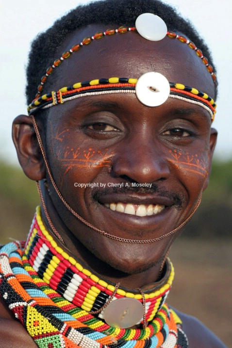 African Samburu man from Kenya #1 7688 - ID: 915876 © Cheryl  A. Moseley