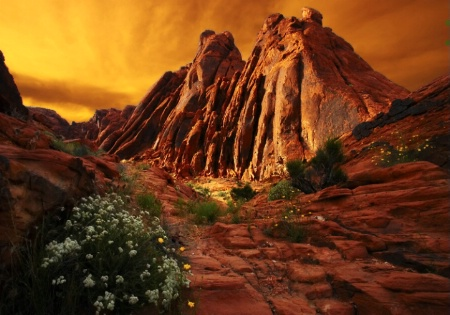 Valley of Fire Twin Rocks