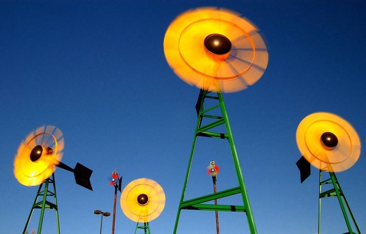 Yellow Wind Mills