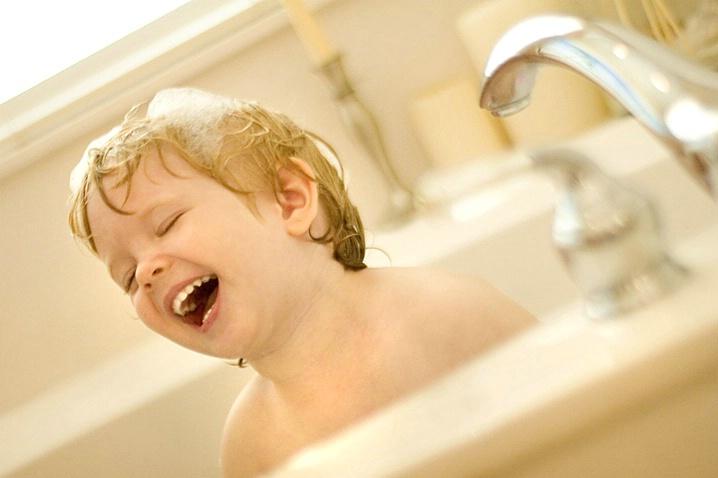 Boy Laughing in Bubble Bath - ID: 1146596 © Wendy M. Amdahl