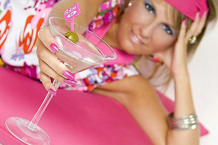 Mod Girl Pink Martini Glass POV - ID: 1146699 © Wendy M. Amdahl