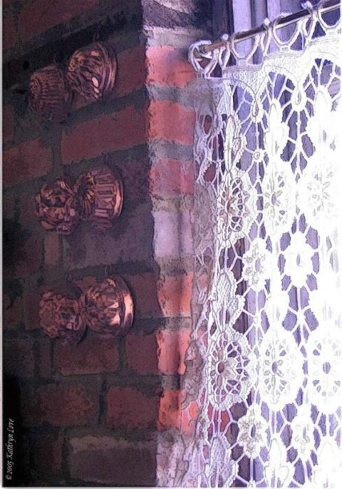 bricks and lace